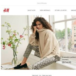 [H&M] This print is set to take over…