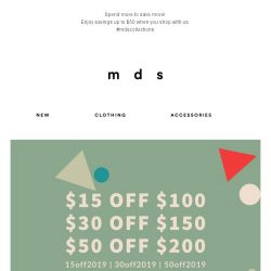[MDS] Spend More & Save More! Up to $50 off* with spend