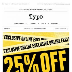 [typo] Save 25% when you spend $40