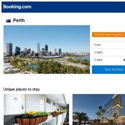 [Booking.com] Deals in Perth from S$ 36