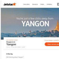 [Jetstar] Yangon is only a few clicks away, Bq Sg!