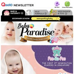 [Qoo10] Heard Of PeeKaPoo? It's The First 3rd Generation Diaper Made In SG! Anti-Rash & Leakage To Keep Your Baby Happy All Day!