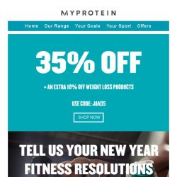 [MyProtein] Is Losing Weight Your Goal for 2019? 🏃