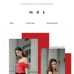 [MDS] DOs and DON'Ts for your CNY outfits