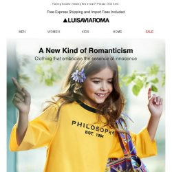 [LUISAVIAROMA] Just in: Philosophy by Lorenzo Serafini for your little princess!
