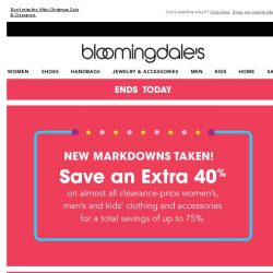 [Bloomingdales] Ends today! Save up to 75%