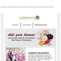 [Floweradvisor] Did You Know that carnations are called The Flower of Gods?