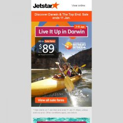 [Jetstar] 🌄 Go on an outback adventure in Darwin, Australia from $89^ all-in! Book now.