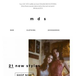 [MDS] Your Most-Awaited CNY Styles | Now Online & IN-STORES