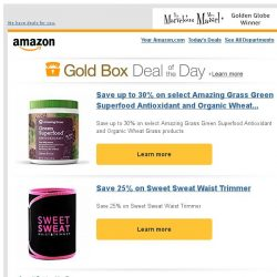 [Amazon] Save up to 30% on select Amazing Grass Green...