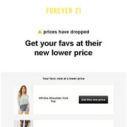[FOREVER 21] OMG! we dropped the price