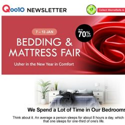 [Qoo10] CNY Bedding & Mattress Fair! Up to 70% Off, 7-13 Jan