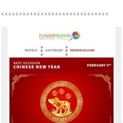 [Floweradvisor] Chinese New Year is Around The Corner. Prepare Your Gift in Advance!
