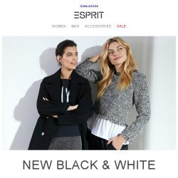 [Esprit] New Black & White Collection
