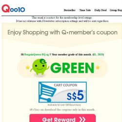 [Qoo10] [Qoo10] Enjoy Shopping with Q•member's coupon