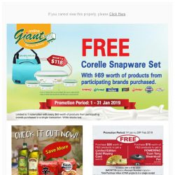 [Giant] 🎉WOHO! Here @gmail.com, Take this Corelle Snapware Set with you 😎