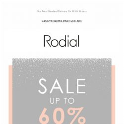 [RODIAL] Don't Miss Out | SALE - Up To 60% Off