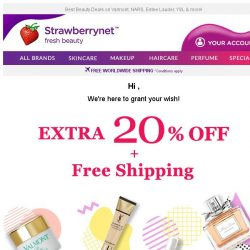 [StrawberryNet] LAST DAY to Enjoy Extra 20% Off + Free Shipping!