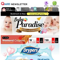 [Qoo10] [ DRYPERS ] Up to 70% OFF! Drypantz 2 Packs $19.90 | Wee Wee Dry 2 Cartons FREE Megabloks / Cooler Bag