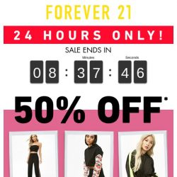 [FOREVER 21] Oops 😳 Your 50% Off Is Ready