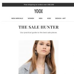 [Yoox] The Sale Hunter: the best markdowns