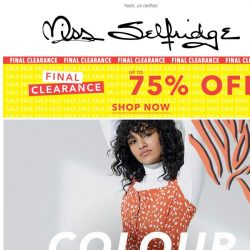 [Miss Selfridge] Not ready to let animal print go?