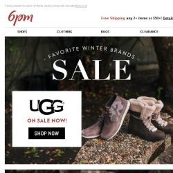 [6pm] Favorite Brands Sale: UGG, SOREL, FRYE & more!