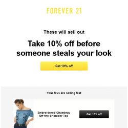 [FOREVER 21] We did a little negotiating...