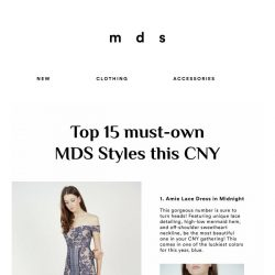 [MDS] Top 15 Must-Own MDS Styles this CNY