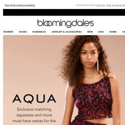 [Bloomingdales] Two of a kind: New AQUA matching separates