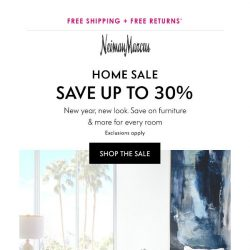 [Neiman Marcus] 30% off! Home Sale starts now