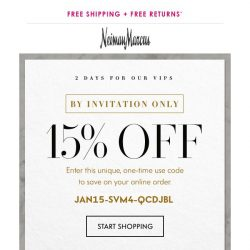 [Neiman Marcus] 15% off: Your private offer is inside