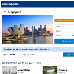 [Booking.com] Deals in Singapore from S$ 19