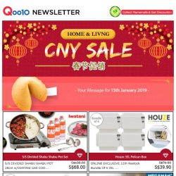[Qoo10] BUY NOW! Don't Regret Later! Home & Living CNY Sale!