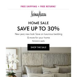 [Neiman Marcus] 30% off Home for a limited time