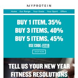 [MyProtein] 🏃 Time to stock up for your fitness!