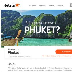 [Jetstar] Still want to go to Phuket?