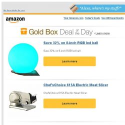 [Amazon] Save 32% on 8-inch RGB led ball