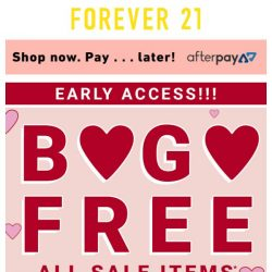 [FOREVER 21] Oops 😳 Your BOGOFREE Is Ready!
