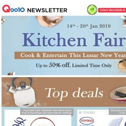 [Qoo10] Kitchen Fair Now On! Cook & Entertain This Lunar New Year! Up to 50% Off!
