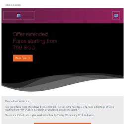 [Qatar] Offer extended. Fares starting from 759 SGD.
