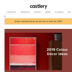 [Castlery] Living Coral & Red for CNY! #ColouroftheYear