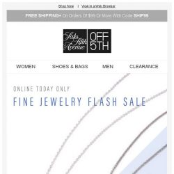 [Saks OFF 5th] Fine Jewelry Flash Sale: Extra 40% off Effy, Ippolita & more! + We picked styles just for YOU!
