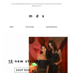 [MDS] SELECTED CNY STYLES NOW IN-STORES & ONLINE | 12 Styles