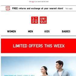 [UNIQLO Singapore] Daily Essentials On Offers!