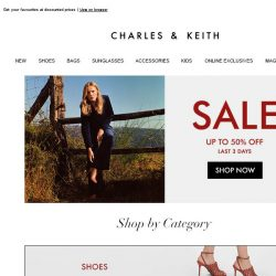 [Charles & Keith] End Of Season Sale: Final 3 Days