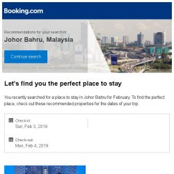[Booking.com] Deals in Johor Bahru from S$ 12