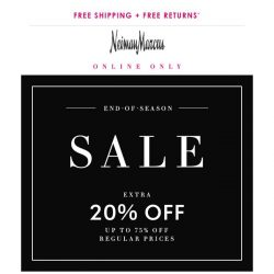 [Neiman Marcus] 75% off! End-of-season savings