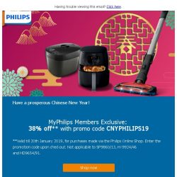 [PHILIPS] Members save up to 38% this Chinese New Year