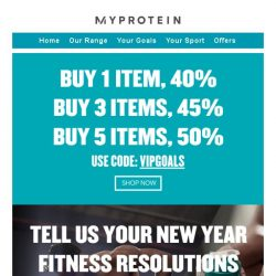 [MyProtein] Deals to start the weekend strong!